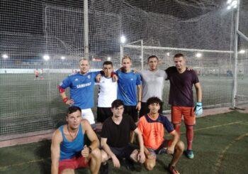 Тренування футбольної команди «Меркурій»